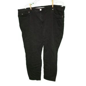 Avenue Denim skinny black jeans in 30 average